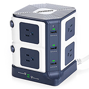 Bestek 8-Outlet Power Strip and Surge Protector