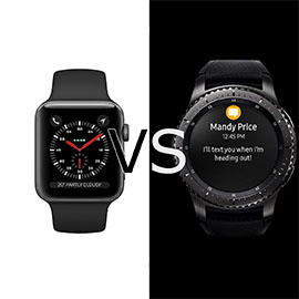 Apple Watch 3 vs Samsung Gear S3 Frontier
