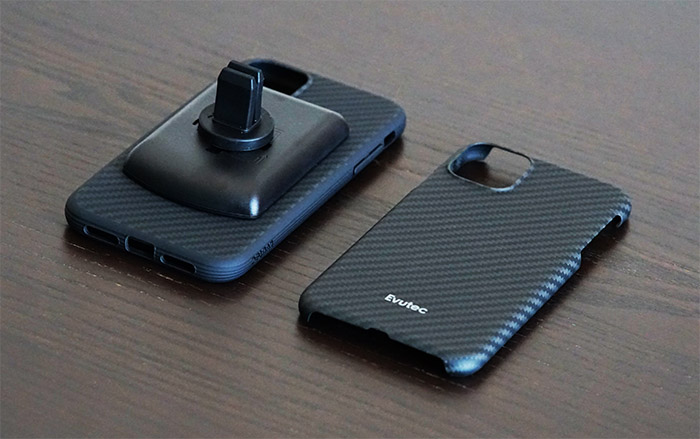 evutec-karbon-slim-case-iphone-11-comparison