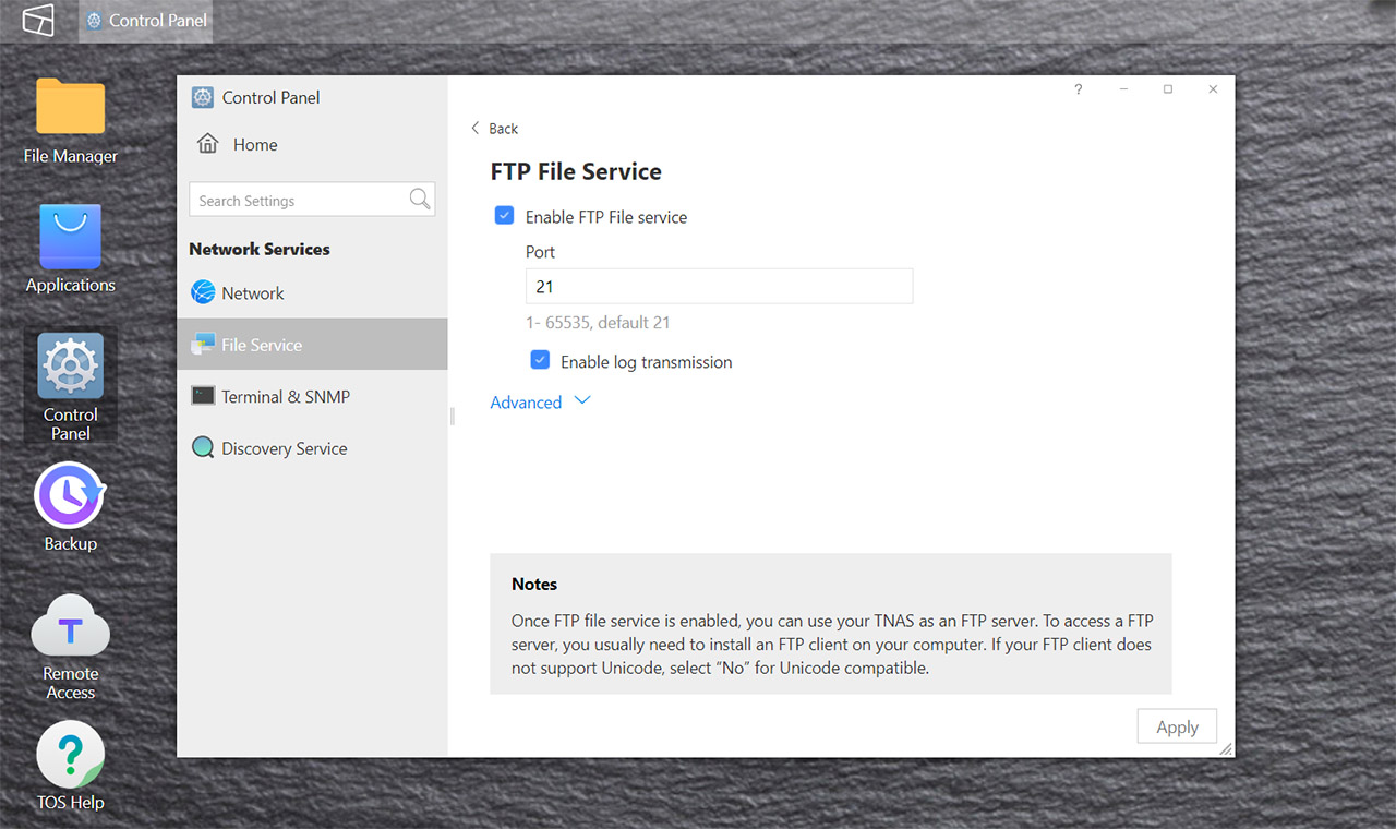 enable-ftp-nas