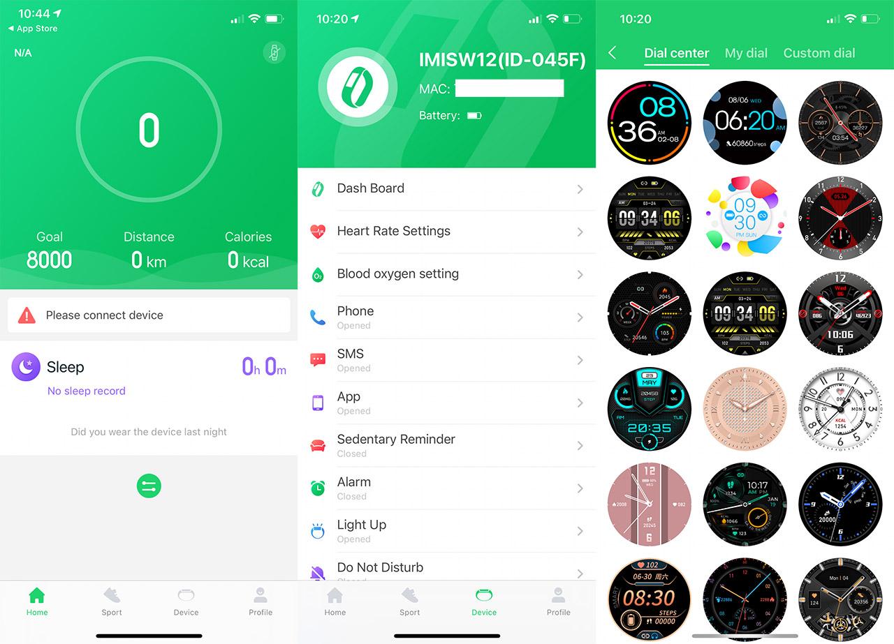 imilab-w12-smartwatch-app